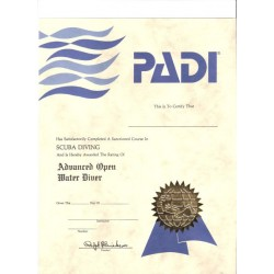 CERTIFICATE ADVANCED DIVER