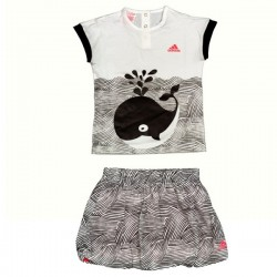 COMPLETINO BABY (T-SHIRT + GONNA) ADIDAS I SSET FUN G