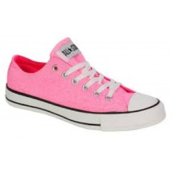 SCARPE CONVERSE ALL STAR CT OX NEON ROSA BASSE