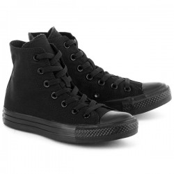 SCARPE CONVERSE ALL STAR HI TOTAL BLACK ALTE