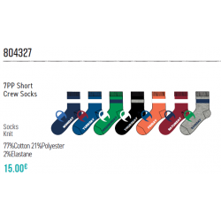 7PAIA CALZINI JUNIOR 7pp short crew socks